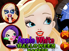 Apple White Halloween Makeup