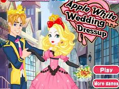 Apple White Wedding Dressup