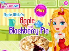 Apple Whites Apple and Blackberry Pie