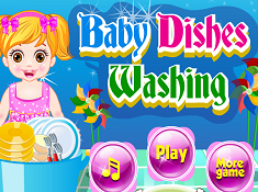 Baby Dishes Washing