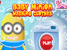 Baby Minion Washing Clothes