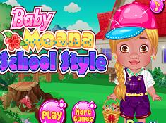Baby Moana School Style