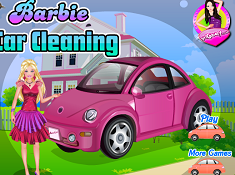 Barbie Car Cleaning