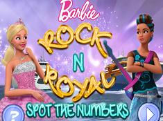 Barbie Rock n Royal Spot the Numbers