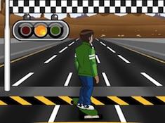 Ben 10 Highway Skateboarding