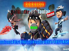 BoBoiBoy Halilintar vs Taufan