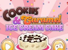 Cookies and Caramel Ice Cream Cake