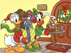 Daisy and Donald on Christmas
