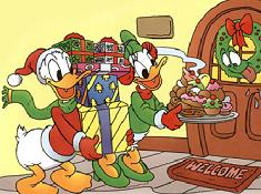 Daisy and Donald on Christmas