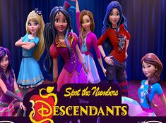 Descendants Spot the Numbers
