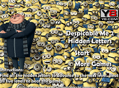 Despicable Me 2 Hidden Letters