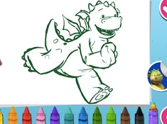 Digby Dragon Colour In
