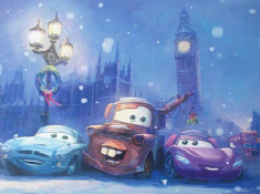 Disney Cars Christmas Puzzle