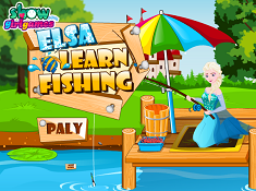 Elsa Learn Fishing