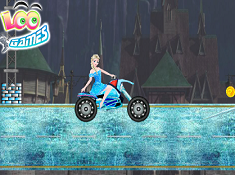 Elsa Rides to the Castle