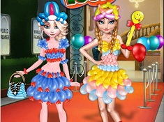 Frozen Sisters Balloon Dress Up