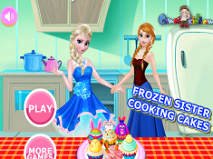 Frozen Sisters Cooking Cakes