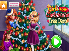 Girls Christmas Tree Deco