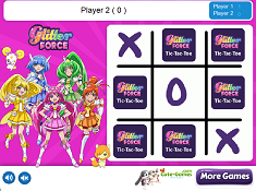 Glitter Force Tic Tac Toe