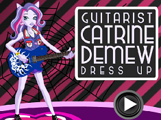 Guitarist Catrine Demew Dress Up