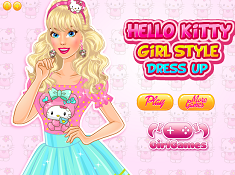 Hello Kitty Girl Style Dress Up