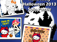Hello Kitty Halloween Spin Puzzle