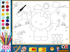 Hello Kitty Online Coloring
