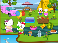 Hello Kitty Picnic Spot Find 10 Difference