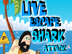 Live Escape Shark Attack
