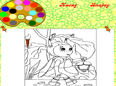 Luntik Coloring Mila