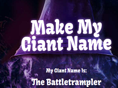 Make My Giant Name