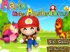 Mario Kicks Mushrooms