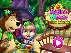 Masha and Bear Kitchen Mischief