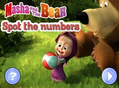 Masha And The Bear Spot The Numbers