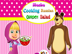Masha Cooking Russian Garden Salad