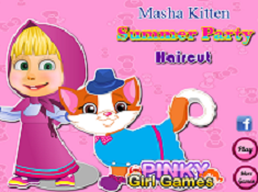 Masha Kitten Summer Party Haircut