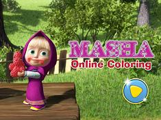 Masha Online Coloring