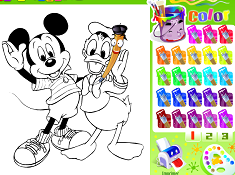 Mickey Mouse and Donald Coloring