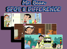 Mr Bean Spot 8 Difference