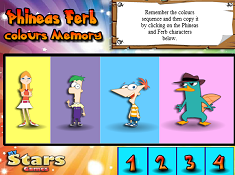 Phineas Ferb Colours Memory