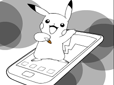 Pikachu and the Phone Coloring