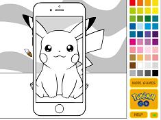 Pikachu Poemon Go Coloring