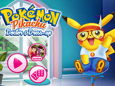 Pokemon Pikachu Doctor and Dress Up