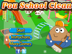 Pou School Clean