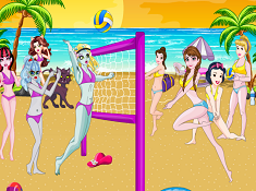 Princess Vs Monster High Beach Voleyball