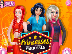 Princesses at Yard Sale