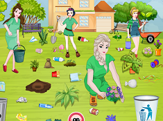 Princesses Go Green Clean Up