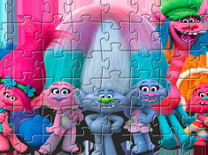 Puzzle with Trolls the Movie