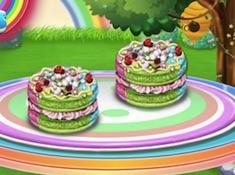 Rainbow Macaroons Cooking