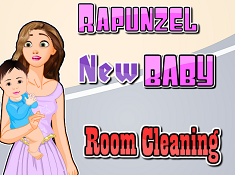 RAPUNZEL NEW BABY ROOM CLEANING RAPUNZEL GAMES